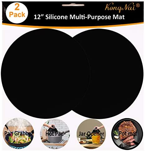 Silicone Microwave Mat 12 Inch Non Stick Turntable Mat for Kitchen BPA Free Multi Purpose Heat product image