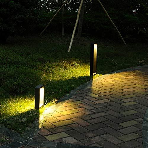 Luz LED Baliza del césped por la trayectoria del paisaje yarda del jardín de la plaza al aire libre Iluminación LED carretera lámpara de césped Iluminación decorativa,60CM