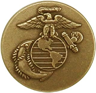 Indiana Metal Craft US Marine Corps Brass Lapel Pin. Made in USA.