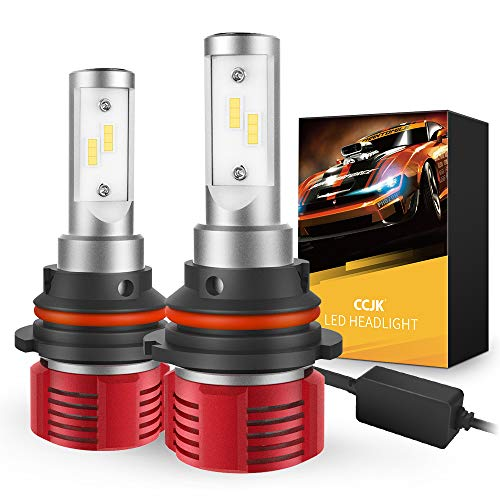 CCJK 9007/HB5 LED Headlight Bulbs - 100W 12000LM 6500K Xenon White - High/Low Beam,Fog Light Bulb Conversion Kit - CanBus Ready,IP67,CSP Chips,360 Degree