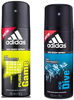 Adidas Pure Game and Ice Dive Deodorant (Pack of 2)