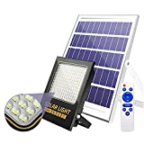 XEX 106 LED Proyector Solares Exteriores, 60W Foco Solar LED Superbrillantes con Mando Cables 5m, Luz De Inundación Solares Impermeable IP65 para Cobertizo Jardín Granero(Size:60W)