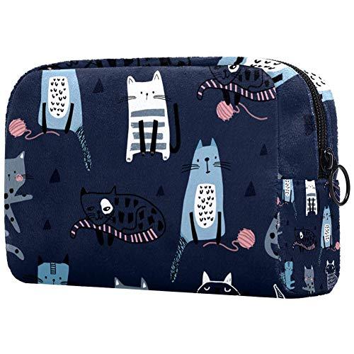 Bolsa de maquillaje personalizada para brochas de maquillaje, bolsas de aseo portátiles para mujeres, bolso cosmético, organizador de viaje creativo infantil