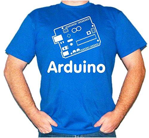 Arduino-T-Shirt, UNO, Leonardo, Mega, Informatik-Nerd, Micro-Controller, C++ Gr. M, blau