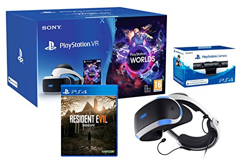 PlayStation VR2 (CUH-ZVR2) Resident Evil 7 Pack + VR Worlds + Camera VR