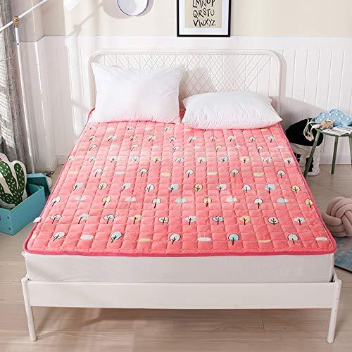 MYYU Non-Scivolare Sleeping Pad Materasso in Flanella Pieghevole Roll Up Materasso Tradizionale Giapponese Materassi Letto Futon Tatami Tappetino,4,1.0m*1.9m