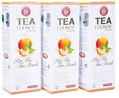 Teekanne Tealounge Kapseln - Pai Mu Tan Peach No. 501 Weißer Tee (3x8 Kapseln)