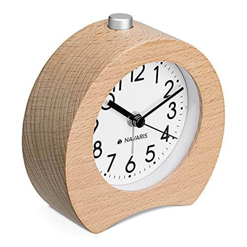 Navaris Reloj Despertador de Madera...