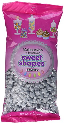 Celebrations By SweetWorks Sweet Shapes(TM) 12oz, Shimmer (TM) Silver Stars