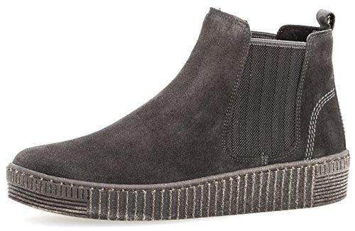 Gabor Damenschuhe 73.731.19 Damen Stiefeletten, Boots, Stiefel, in Comfort-Mehrweite, mit Reißverschluss Grau (Pepper (anthrazit)), EU 9.5