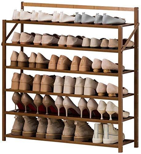 6 Niveles Plegables Zapato de Zapatos Soporte de Zapato de bambú Moderno Sencillez Hogar Puerta Plaza Estante de pie Pasaje Entrada Inicio Estantes Zapato Estante, 90 cm YMIK (Size : 70cm)