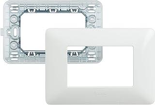 BTicino SAM4803BBN Kit-placca/Supporto matix 3P Bianco
