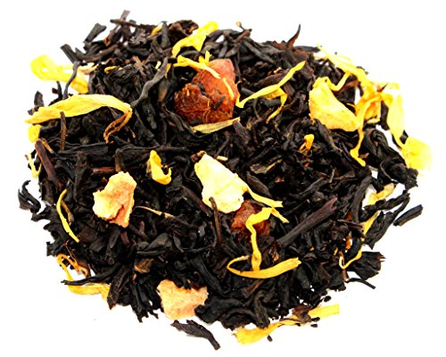 Nelson's Tea - Apricots & Cream - Black Loose Leaf Tea - Black tea, dried apricot, and marigold petals - 2 oz.