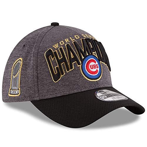 New Era MLB Chicago Cubs 39Thirty 2016 World Series Champions Locker Room On Field Fitted Cap Grau Schwarz Hat