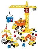 Jouets Ecoiffier – 3020 - Chantier Abrick – Jeu de construction pour enfants – Dès 18 mois – Fabriqué en France