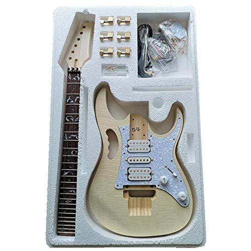 LOIKHGV Premium DIY E-Gitarren-Kit - Unvollendetes Projekt-Gitarren-Kit, China