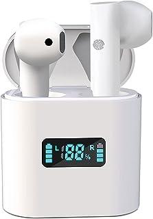 Audífonos Inalámbricos Bluetooth 5.0,Audífonos Bluetooth inalámbricos,Reducción de ruido e impermeable,Auriculares Impermerable con micrófono Incorporado, Alta calidad de sonido HiFi sin pérdidas,portátil y táctil Mano Libre,Juegos, oficina.