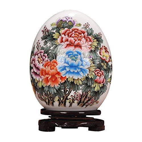 LKXHarleya Osterei Vase Vintage Keramik Weiß KüNstlerische Zeichnung Home Decor Ornament