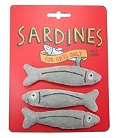 Complete with catnip Fun Stylish & modern Sardine catnip toys with internal crinkle