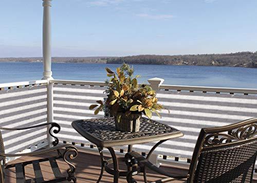 Deco4Me balkondoek, 90 x 500 cm, bescherming tegen inkijk, windscherm, balkonbekleding, omheining van HDPE