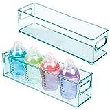 mDesign Juego de 2 cestas organizadoras para el cuarto del bebé – Contenedor...