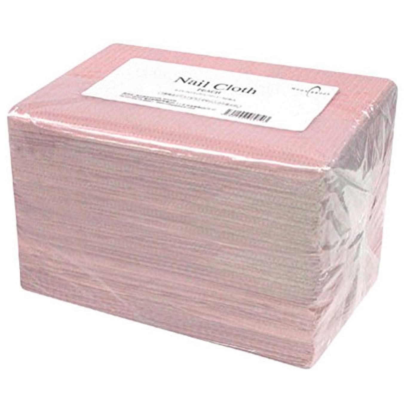 ブル用量信じられないCalgel ネイルクロス 50枚 ピーチ
