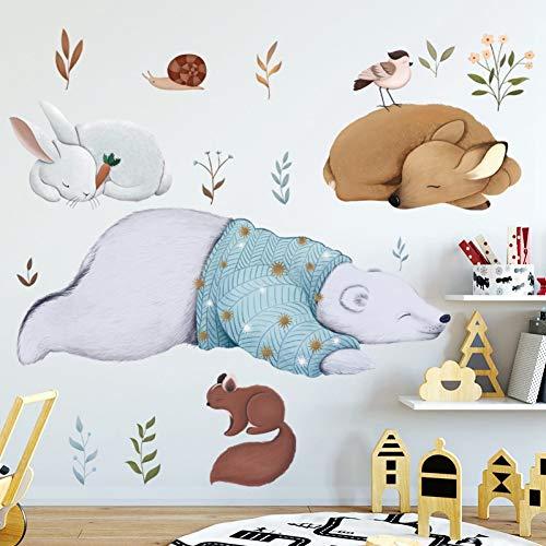 Taoyue muursticker, eekhoorntjes dieren, voor slaapkamer, kinderkamer, afneembare achtergrond voor wand, Art Murals Home