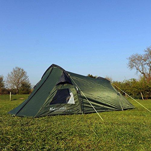 Eurohike Backpacker DLX 2 Man Tent, Green, One Size