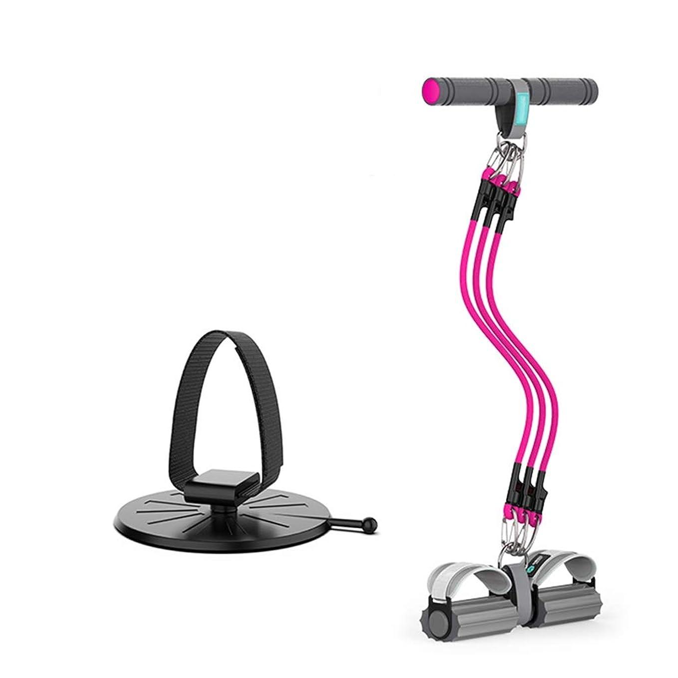 樹皮物理的な明るい腹筋補助、伸縮性巾着ペダルエキスパンダー腹部ウエストストレッチストレッチウェイトトレーニング乗馬プラーフィットネス機器