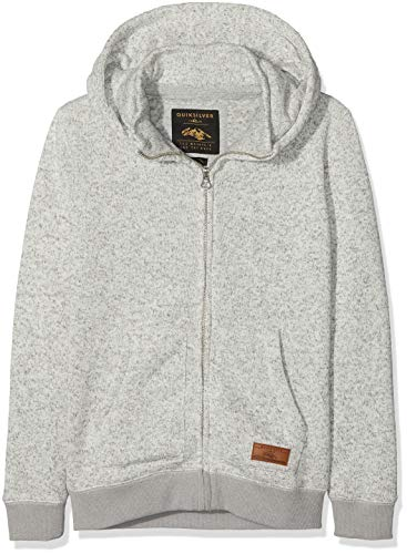 Quiksilver Keller Sweat-Shirt à Capuche Sport Garçon Gris (Light Grey Heather Sjsh) 12 Ans (Taille Fabricant: M/12)