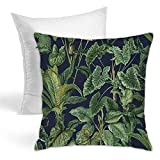 Paradiso Collection Almohada decorativa cuadrada para sofá, dormitorio, coche, decoración del hogar