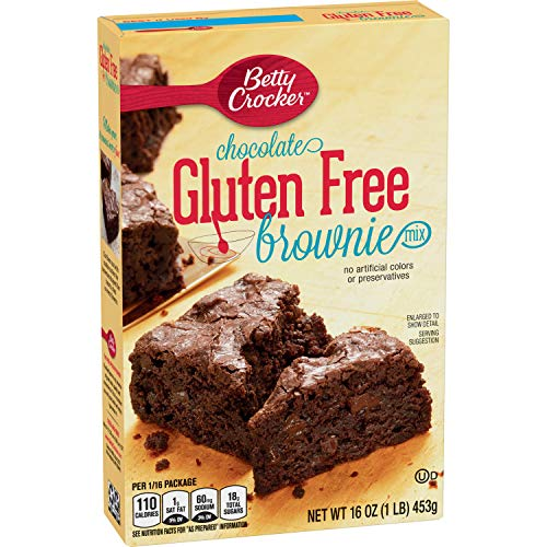 Betty Crocker Baking Mix, Gluten Free Brownie Mix, Chocolate, 16 Oz Box (Pack of 6)