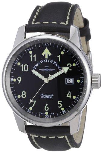 Zeno Watch Basel 6554RA-a1 - Reloj analógico automático Unisex con Correa de Piel, Color Negro
