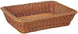 TIANLING Boîte de Rangement Panier de Rangement de Bambou à la Main, Panier de Bambou à Fruits de Bonbons de bambades en r...