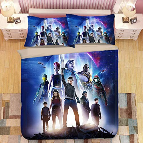 HDBUJ Gamer Movie Cover Bedding 3-Piece Set, Soft Polyester Duvet Cover Set, With Zipper, Easy To Remove, Two Pillowcases 240X220Cm