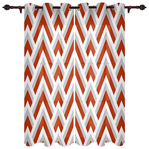 Big buy store Blackout Curtains Panels Chevron,White,Red,Gray,Striped Thermal Insulated Grommet Window Curtains Room Darkening Curtain Drapes for Bedroom & Living Room 40inches W x 63inches L