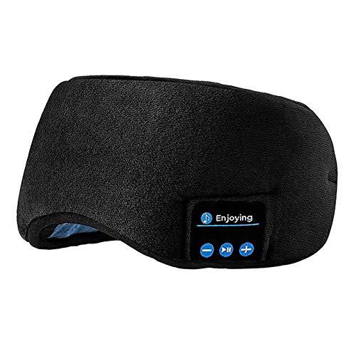 WLQWER Schlafkopfhörer, 3D-Upgrade-Schlafmaske Bluetooth 5.0 Drahtlose Schlafende Kopfphoen, Personalisierte Beliebte Geburtstagsgeschenke,Schwarz