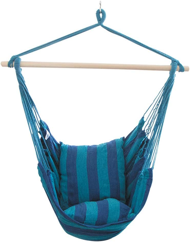 TOPIND Hammock Chair Hanging Swing for Outdoo with 4 years warranty Cusion Indoor Fashion