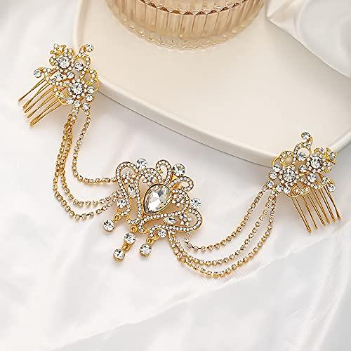 baidicheng Tiaras de diamantes de imitación para la frente, diademas para novia,...