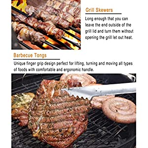 grilljoy Grill Werkzeugset mit Geschenkverpackung, 25 pc Edelstahl Grillzubehör im Aluminiumgehäuse, Premium-Komplett-Geschenkset für für Männer und Frauen am Geburtstag, Vatertag, Weihnachten