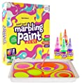 Dan&Darci Marbling Paint Art Kit for Kids - Arts and Crafts for Girls & Boys Ages 6-12 - Craft Kits Art Set - Best Tween Paint Gift, Ideas for Kids Activities Age 4 5 6 7 8 9 10 Marble Painting from Dan&Darci