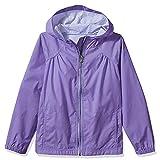Kids Girls Rain Jacket Hoodie Coat #7055-Light Purple, XL