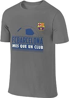 Syins Mens Design New Tops FC Barcelona Mes Que Un Club T Shirt