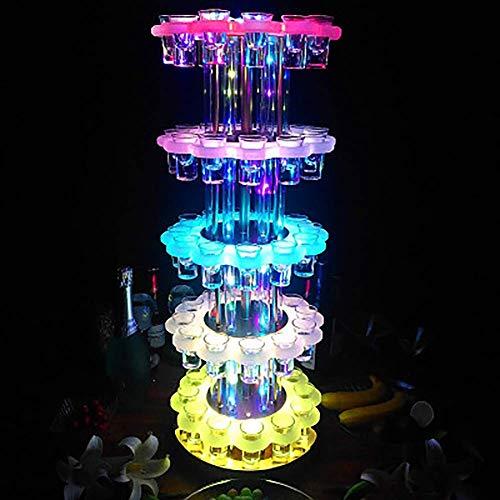 Soporte de exhibición para copas de vino LED, 65 vasos creativos para novio y tostadas, juegos de regalo, ideal para compromiso, boda, casa, calentamiento, regalo