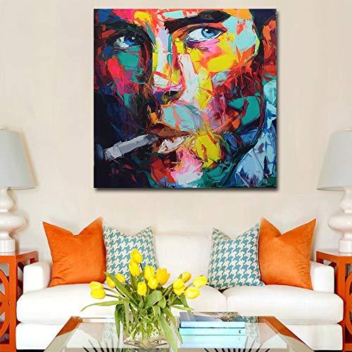 KWzEQ Imprimir en Lienzo Color de la Pared Arte de la Pared Imagen Decorativa decoración del hogar Sala de Estar sofá decoración de la pared60x60cmPintura sin Marco