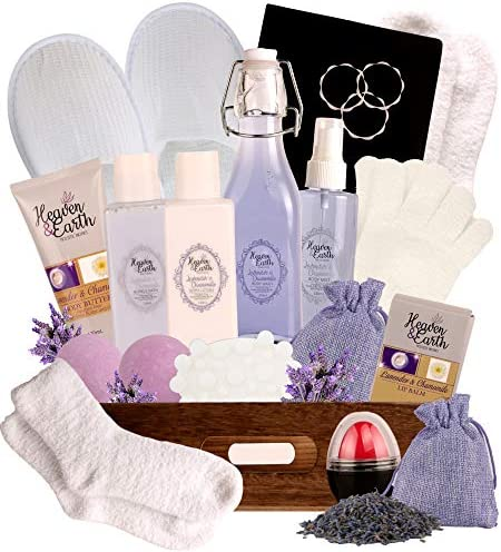 Relaxing Lavender Gift Basket Spa Bath Set Stress Relief Bath Gift Set Pampering Gift Luxury product image