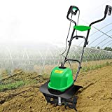 AAGYJ 40cm (16in) Corded Scarifier & Aerator, Electric Tiller/Cultivator, Electric Lawn Rake & Power Tillers for Clearing Lawn Debris & Improving Its Health