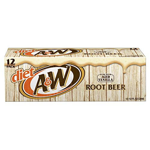Diet A&W Root Beer, 12 fl oz (pack of 12)