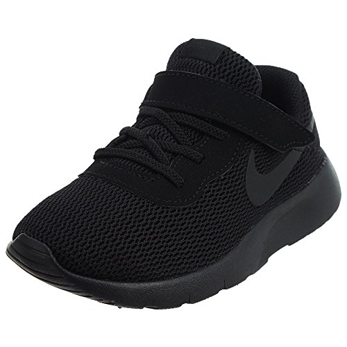 NIKE Boy's Tanjun (TDV) Running Shoes,Black/Black, 3 M US Toddler