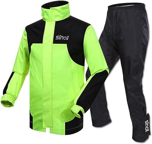 Veste de pluie extérieure Cyclisme pluie costume veste de pluie imperméable pantalon pluie usure moto imperméable adulte seul équitation split imperméable costume imperméable à l'eau pour les voyages,